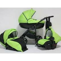 Berry Baby Lux 3in1 Pram Set( with adapter and carrier): Z-16