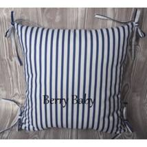 PUFFY Bumper: Dark Blue White Stripes