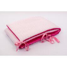 CLASSIC Bumper: Pink Minky Rose Hearts