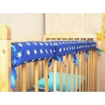 Crib Rail Cover: Dark Blue Stars