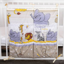 4 Pockets Diaper Storage: Beige Safari