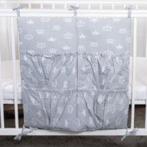 4 Pockets Diaper Storage: Gray Crowns