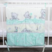 4 Pockets Diaper Storage: Mint Bear