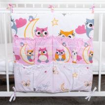 4 Pockets Diaper Storage: Rose Owls
