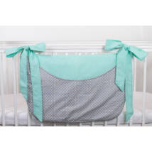SMILE Diaper Storage: Mint Gray Dots