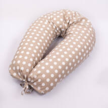 CLASSIC Nursing Pillow Cover: Big Beige Dots