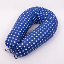 CLASSIC Nursing Pillow Cover: Dark Blue- White Stars