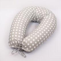 CLASSIC Nursing Pillow Cover: Big Gray Dots