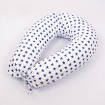 CLASSIC Nursing Pillow Cover: White- Blue Stars