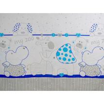 BASIC Cotton Sheet 60x120 cm: Blue Zoo