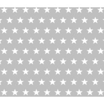 BASIC Cotton Sheet 60x120 cm: Gray Stars