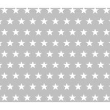 BASIC Cotton Sheet 70x140 cm: Gray- White Stars