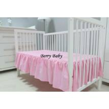 FRILLY Sheet for 60x120 cm Baby Bed: Rose