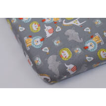 Jersey Sheet for 70x140 cm Baby Bed: Gray Safari