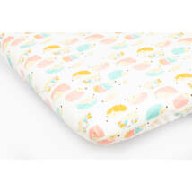 Jersey Sheet for 70x140 cm Baby Bed: Rose Hedgehog