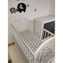 Feather Bed for 70x140 cm Baby Bed: Gray- White Stars