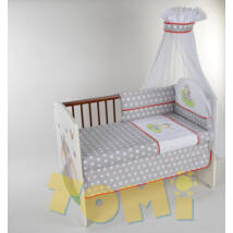 PREMIUM TOMI Embroidered Bedding Set- Gray Dots Bunny