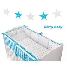 LUXURY Bedding Set: Blue -White +Stars-Hearts