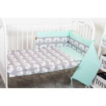 STARS and DOTS Bedding Set: Mint+ Gray Fox