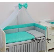 STARS and DOTS Bedding Set: Turquoise Dots