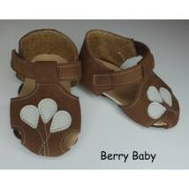 Baby Leather Shoes: Brown Balloons Size 17