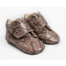 Baby Leather Shoes: Purple Snakeskin-like  (with velcro) Size 19
