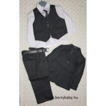 6 parts elegant suit set for little boys- 2 years- black herringbone pattern