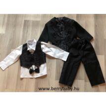 5 part elegant set for little boys: 2 years- black tailcoat