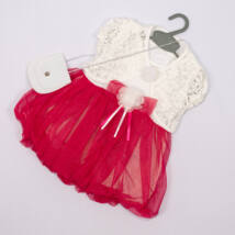 Elegant Dress for Little girls- Pink- Size: 1 year
