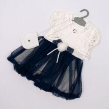 Elegant Dress for Little girls- Dark Blue- Size: 3 year