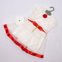 Elegant Dress for Little girls- Red-White Size: 3 year