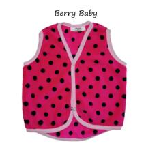 Berry Baby wellsoft  vest-Pink-Black Dots 6-12 months