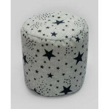 Bean Bag Pouffe: Blue Stars