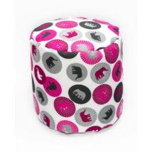Bean Bag Pouffe: Wextra Pink Elephants