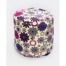 Bean Bag Pouffe: Wextra Purple Flowers