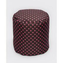 Bean Bag Pouffe: Wextra Chocolate- Rose Dots
