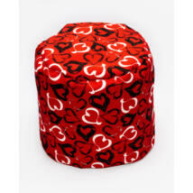 Bean Bag Pouffe: Wextra Red Hearts
