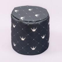 Bean Bag Pouffe: Diamond Gray Chesterfield