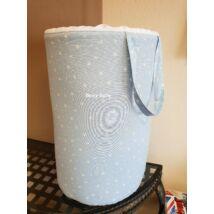 Laundry Basket- Toy Storage: Light Blue Stars