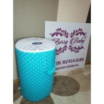 Laundry Basket- Toy Storage: Turquoise Dots