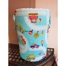 Laundry Basket- Toy Storage: Turquoise Cars