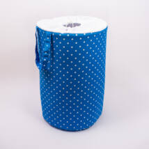 Laundry Basket- Toy Storage: Royal Blue Dots