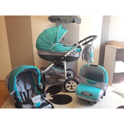 Berry Baby Lux 3in1 Pram Set (with adapter and carrier): Z-12