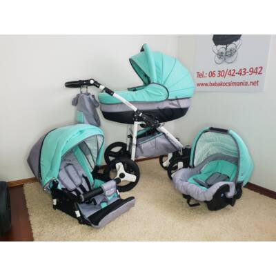 Berry Baby Lux 3in1 Pram Set (with adapter and carrier): Z-27