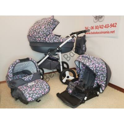 Berry Baby- LUX 3in1 Pram Set ( with carrier and adapter): Z-28