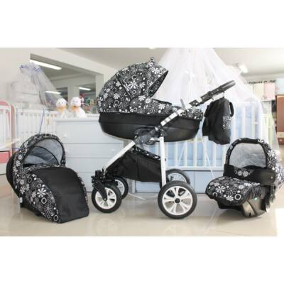 Berry Baby Lux 3in1 Pram Set (with carrier and adapter): Z-4
