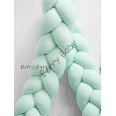BRAIDED Bumper 360 cm (for 60x120 cm baby bed) : Mint