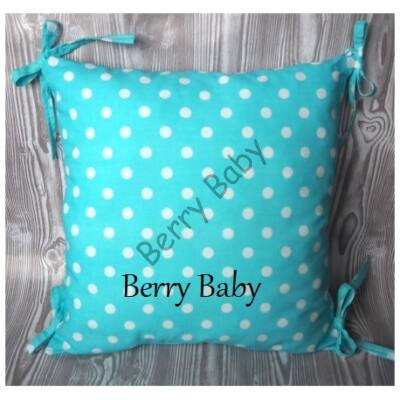 PUFFY Bumper: Turquoise Dots