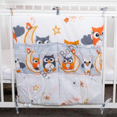 4 Pockets Diaper Storage: Orange Owls
