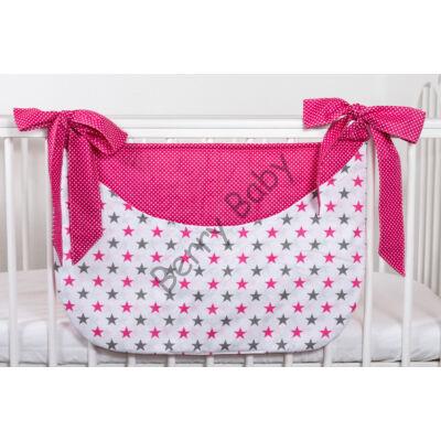 SMILE Diaper Storage: Gray-Pink Stars